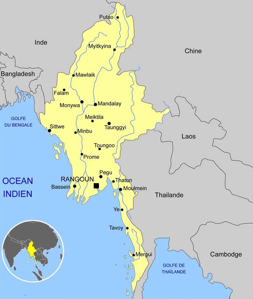 carte myanmar